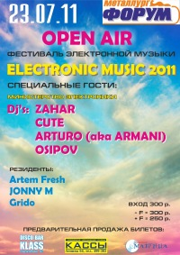 Open Air Electronic music 2011