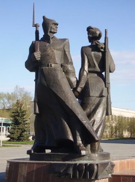 Памятник первым комсомольцам Нижнего Тагила. А.Г. Неверов